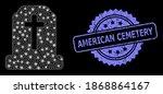 bright mesh network cemetery... | Shutterstock .eps vector #1868864167