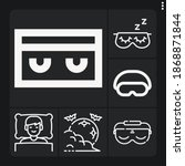 Set Of 6 Waking Lineal Icons...