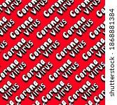 white hand lettering on red... | Shutterstock .eps vector #1868881384