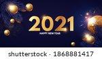 happy new 2021 year design... | Shutterstock .eps vector #1868881417