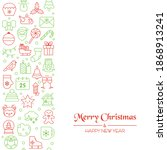 christmas holiday background... | Shutterstock .eps vector #1868913241