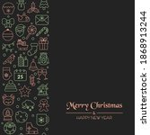 christmas holiday background... | Shutterstock .eps vector #1868913244