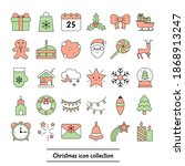 set of christmas icons. vector... | Shutterstock .eps vector #1868913247