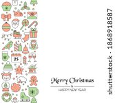 christmas holiday background... | Shutterstock .eps vector #1868918587