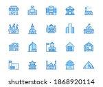 city building line icons set.... | Shutterstock .eps vector #1868920114
