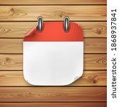 realistic calendar icon on... | Shutterstock .eps vector #1868937841