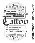 tattoo studio  vintage poster... | Shutterstock .eps vector #1868937844