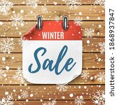winter sale. realistic calendar ... | Shutterstock .eps vector #1868937847