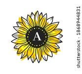 Sunflower Circle Monogram ...