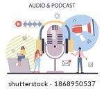 audio content concept. idea of... | Shutterstock .eps vector #1868950537