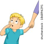 art,blue,boy,cartoon,child,clip,clipart,curious,cutout,eps,fascinated,illustration,isolated,kid,lifestyle