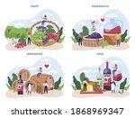 wine maker concept set. grape... | Shutterstock .eps vector #1868969347