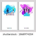 successful team of businessmen...   Shutterstock . vector #1868974204