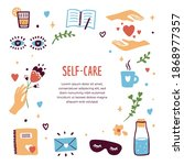 self care template  isolated... | Shutterstock .eps vector #1868977357