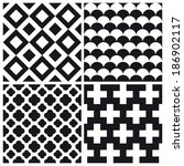 set of geometric pattern...   Shutterstock .eps vector #186902117