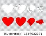 crumpled paper hearts vector...   Shutterstock .eps vector #1869032371