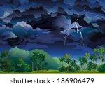 Vector Tropical Landscape....