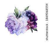 bouquet of peonies flowers  can ... | Shutterstock . vector #1869068554