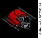 simple helmet american football ... | Shutterstock .eps vector #1869100144