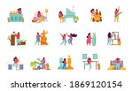 hobby flat people recolor set...   Shutterstock .eps vector #1869120154