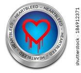 heartbleed button | Shutterstock . vector #186912371