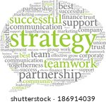 vector word cloud strategy and... | Shutterstock .eps vector #186914039