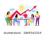group of business people... | Shutterstock .eps vector #1869161314