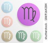 zodiac virgo mercury badge...