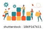 business concept. team metaphor.... | Shutterstock .eps vector #1869167611