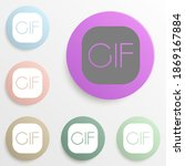 gif file formatbadge color set. ...