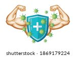 medical protect shield with...   Shutterstock .eps vector #1869179224