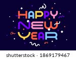 happy new year. greeting card... | Shutterstock . vector #1869179467