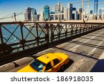 taxi cab  in new york | Shutterstock . vector #186918035
