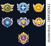 set of vector game medal set... | Shutterstock .eps vector #1869182611