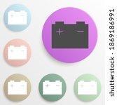 battery badge color set. simple ...