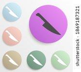 knife badge color set. simple...