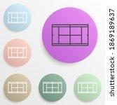 tennis court badge color set....
