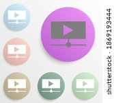 online video play button badge...
