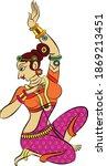 lord's gopika  sevika  or lady...   Shutterstock .eps vector #1869213451