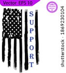 thin blue line us flag. flag...   Shutterstock .eps vector #1869230104