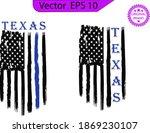 thin blue line us flag. flag...   Shutterstock .eps vector #1869230107