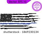 thin blue line us flag. flag... | Shutterstock .eps vector #1869230134