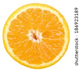 orange slice isolated on white... | Shutterstock . vector #186923189