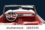 white convertible with red... | Shutterstock . vector #1869240
