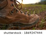 Detail Of A Mountain Boot In A...