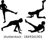 group of people. black... | Shutterstock . vector #1869261301