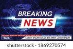 breaking news live on world map ... | Shutterstock .eps vector #1869270574