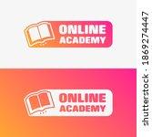 online academy vector label set | Shutterstock .eps vector #1869274447