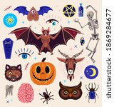 occultism set with magic...   Shutterstock .eps vector #1869284677