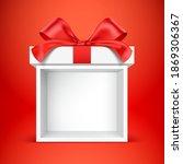 empty gift box kiosk. vector... | Shutterstock .eps vector #1869306367